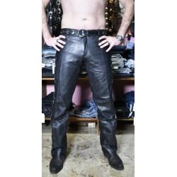 jeans pelle lacci laterali vita bassa