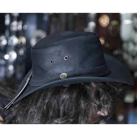 cappello in cuoio