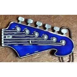 manico chitarra blu e rosso