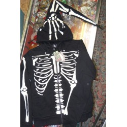 felpa scheletro banned donna